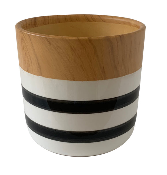 Striped Ceramic Vase (5.5