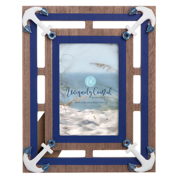Wood Painting Frame anchors vertical natural/navy - UCPF112