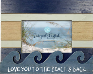 Wood Painting Frame - Love you to the beach - UCPF201