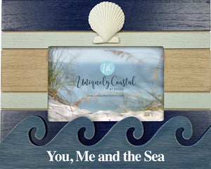 Wood Painting Frame - With Scallop - You, Me, Sea - UCPF301