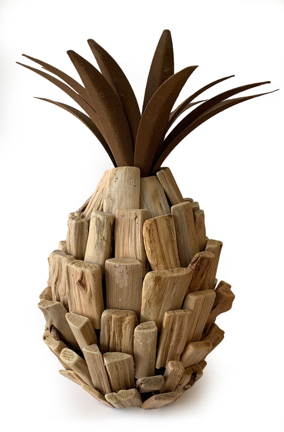 Large Driftwood Pineapple Décor (7.5