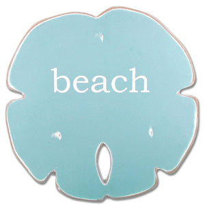 Sand Dollar - Beach (Aqua, White) - WJ SA13 BE