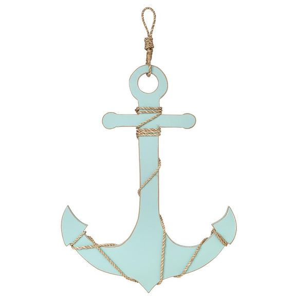 Anchor with Rope Accent (Aqua) - WJ AN25 A