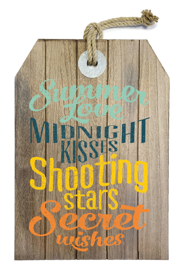 MDF wall decor, brown, summer love - WP105