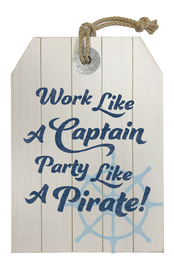 MDF wall decor, small steering wheel, work like a captain - WP202