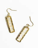 Load image into Gallery viewer, Gold Quartz Earrings