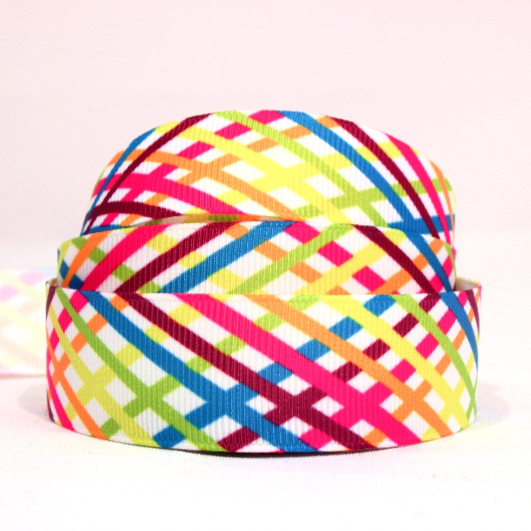 Bright stripy ribbon