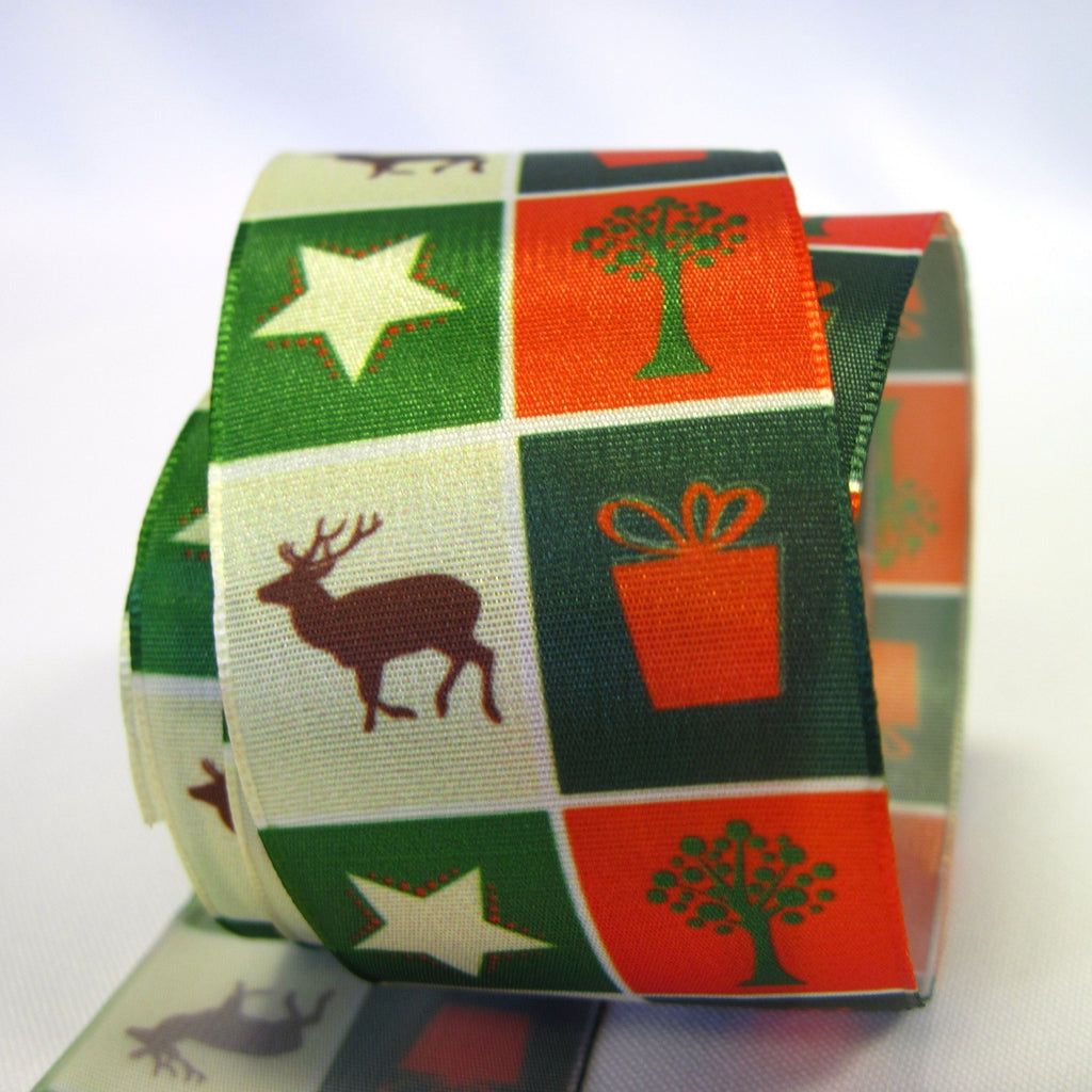 Wide Christmas ribbon