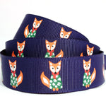 Foxes Christmas ribbon