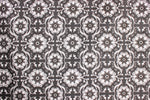 Grey tile pattern cotton