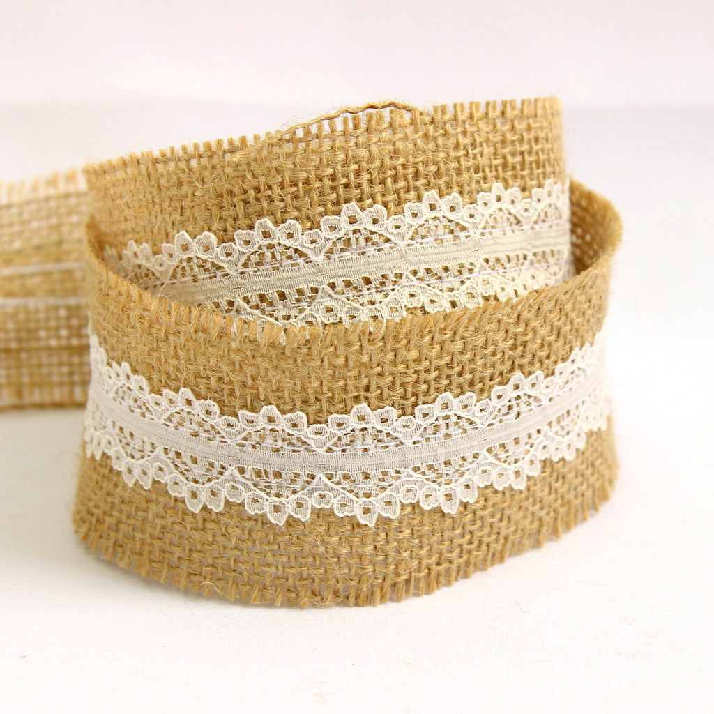 Wedding hessian ribbon