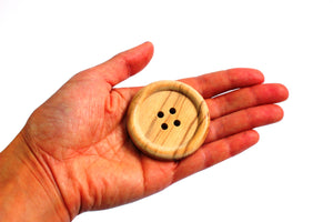 Large wooden button- 5cm