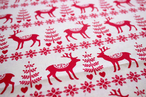 Christmas reindeer cotton fabric