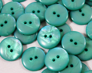 Aqua mother of pearl buttons