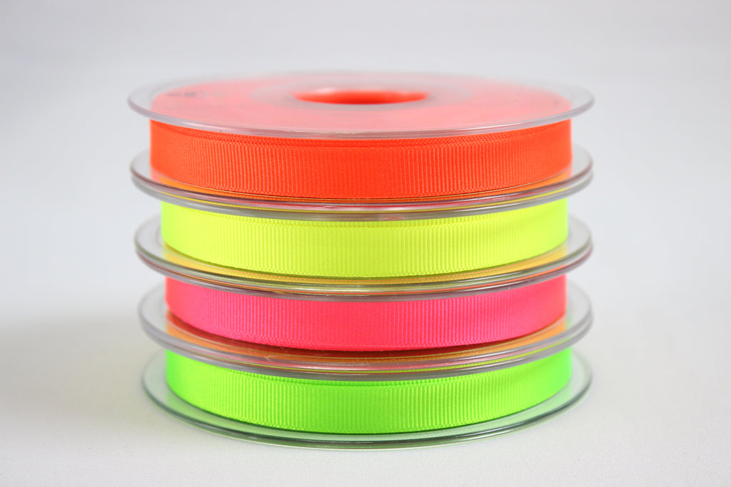 Neon grosgrain ribbons