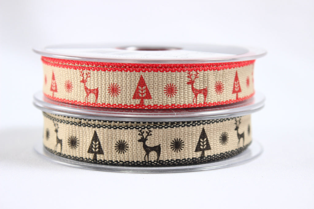 Scandinavian style Christmas ribbon
