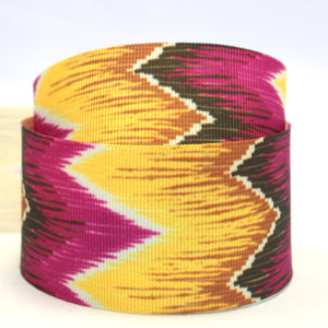 Pink and yellow graphic print ribbon