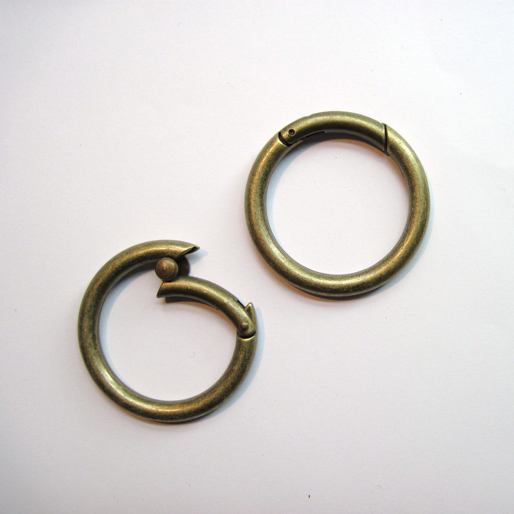 Hinged snap rings