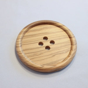Giant wooden button- 8cm