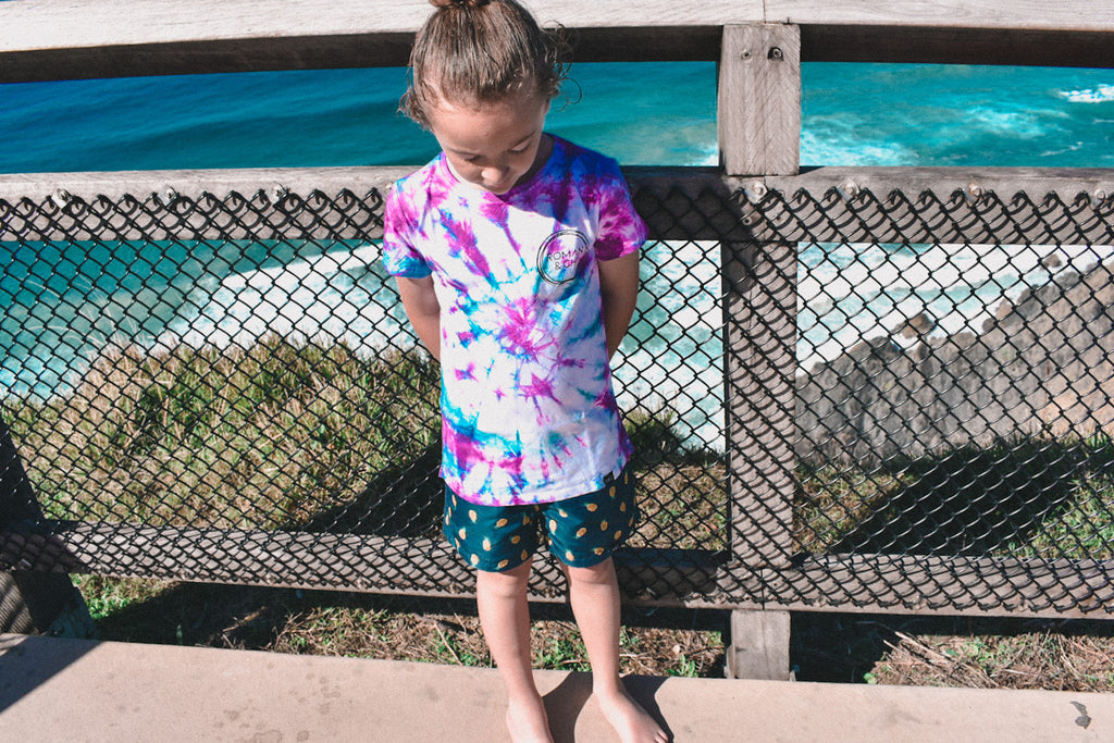 Tall Tee - Tie Dye Blue/Purple