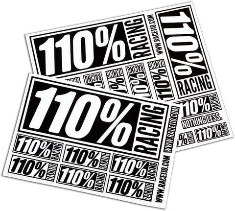 110% Logo Stickers