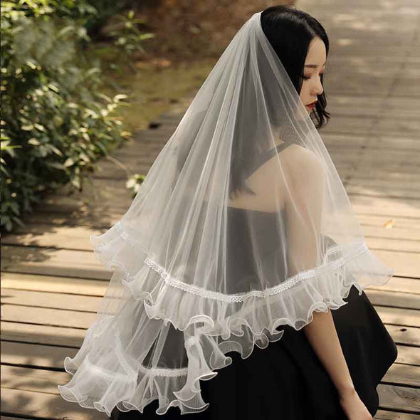 Elbow Length Wedding Veil 150cm Length Ivory Short Veils In STock Wedding Accessories