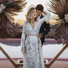 Bohemian Wedding Dress Long Sleeve Fashion Bridal Gowns Vestido De Noivas DW141