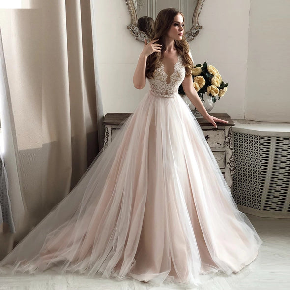 Elegant Lace Wedding Dress Vestidos de novia 2021