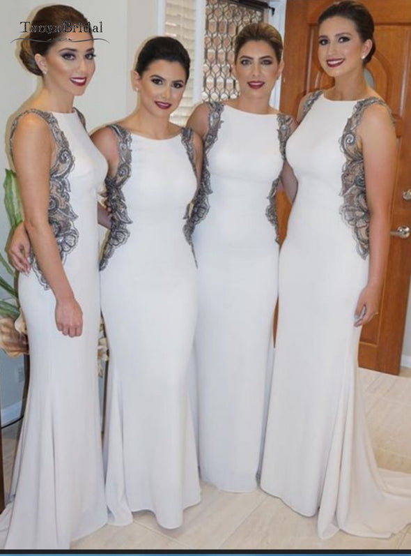 Long Mermaid Bridesmaid Dresses