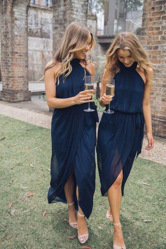 Elegant Summer Chiffon Short Bridesmaid Dresses TB1369