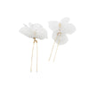 New Polka dot flower Cut yarn bride Hairpin 2pcs Handmade hairpin wedding Dinner Hair accessories