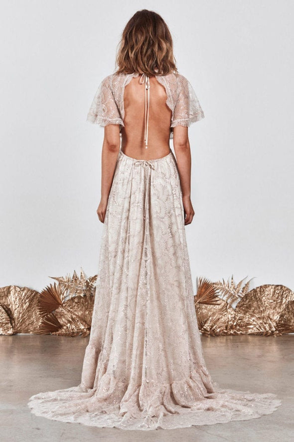 Lace Wedding Dress Boho Dreamy Engagement Gowns A Line Bridal Dress LTDZ291