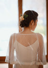Dot Tulle Wedding Cape DJ135