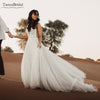 wedding Dresses A Line Tulle Romantic Vestido De Noivas DW220