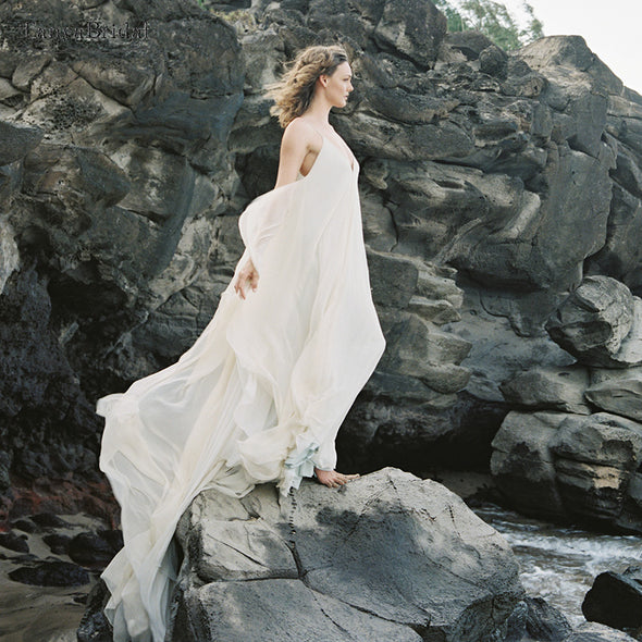 Beach Bohemian Wedding Dresses Pregnant Women Wedding Gowns