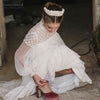 Bohemian Wedding Dresses Loose Long Sleeve Pregnant Bridal Gowns Fairy Vestido de Noivas Beach Gowns DW240