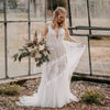Bohemian Wedding Dresses V-Neck Backless Romantic Dreamy Bridal Gowns DW377