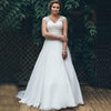 Elegant Plus Size Wedding Dresses Chiffon Pleats Elegant Vestido de Novia Bridal Dress