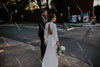 Flare Sleeve V-Neck Open Back Mermaid Simple Bohemian Wedding Bridal Gowns