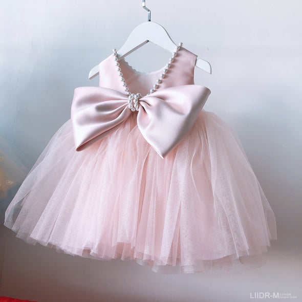 Light Pink New Flower Girl Dresses for Wedding With Applique