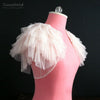 Ruffles Tulle Wedding Bolero Tulle Fairy Bridal Jacket Short Shurgs DJ055