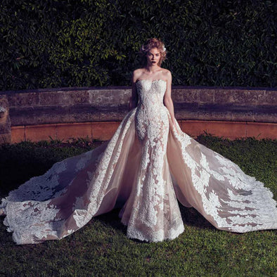 Couture Luxury Mermaid Wedding Dresses with Detachable Train