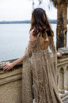 Sparkly Gold Gorgeous Mermaid Bridal Gowns With Cap ZW409