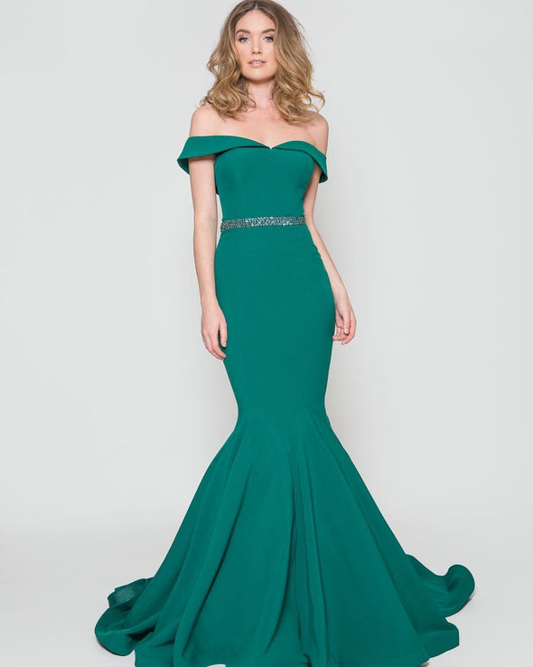 Mermaid Off The Shoulder Long Formal Evening Dresses