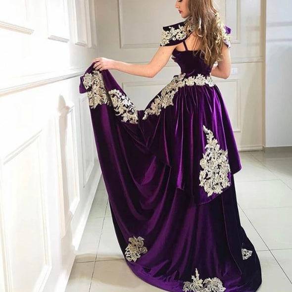 High Neck Mermaid 3 Pieces Arabic Evening Dress with Overskirt TBE09