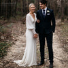 Lantern Long Sleeve Wedding Dresses Mermaid Sequins Bohemain Bridal Gowns DW321
