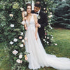 Light Champagne Tulle Wedding Dresses