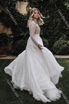 Lace Wedding Dresses Long Sleeves TBW01