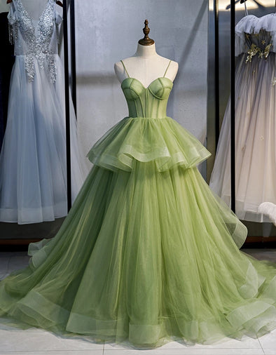 Long Woman Ceremony Dress Prom Fruit Green Prom Gown