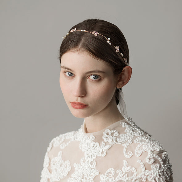 Fresh Simple Bridal Hair Band Headdress Red bean paste Flowers Bridesmaid Modeling Accessories O339